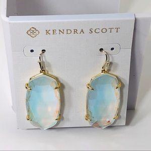 Kendra Scott Esme Dichroic Glass Earrings in Gold